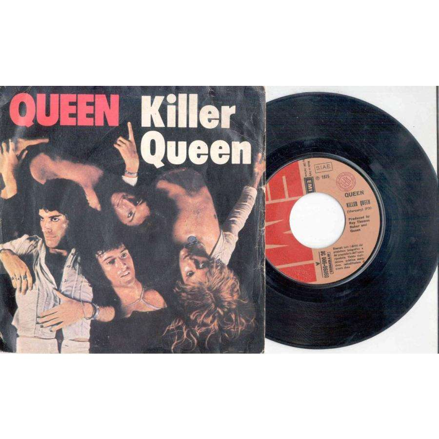 Queen Killer Queen (Italian 1976 2-trk 7 single unique album style ps)
