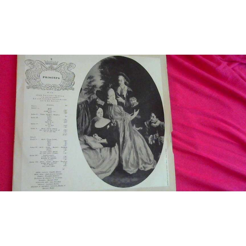 RAMEAU - CLAUDIE SANEVA / BERNARD WAHL jean-philippe rameau : la guirlande ou les fleurs enchantées - acte de ballet