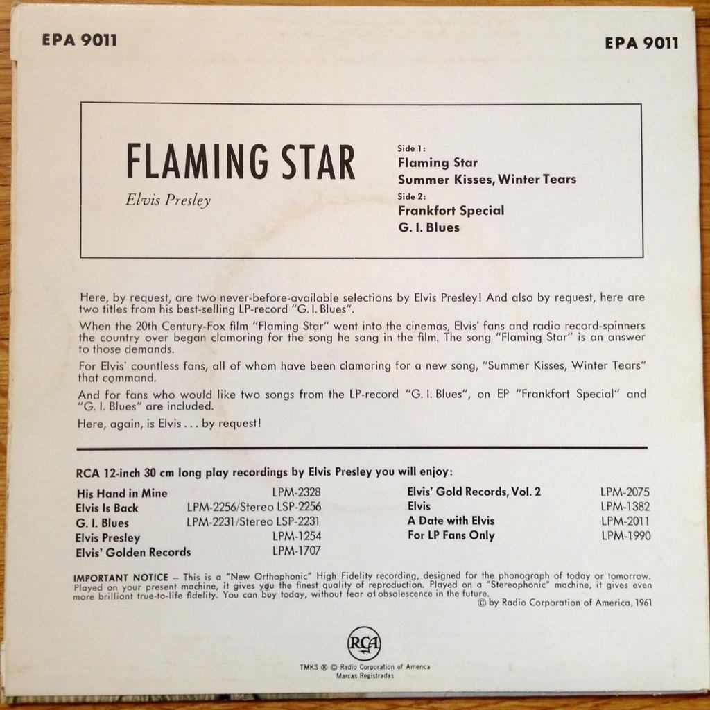 Flaming Star (EP)