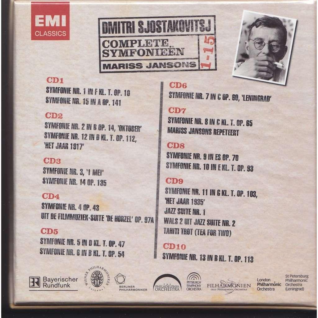 Complete symfonieën / mariss jansons, berlin philharmonic orchestra,  bavarian r s o  de Shostakovich, Dmitri, Coffret CD chez melomaan