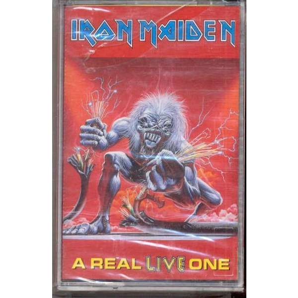 Iron Maiden A Real Live One (Turkish 1993 10-trk cassette album full ps-sealed copy)