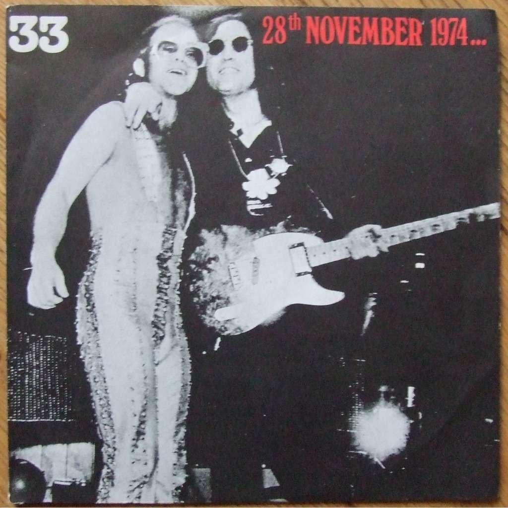 Elton John Band / John Lennon / muscle shoals horn 28th November 1974...