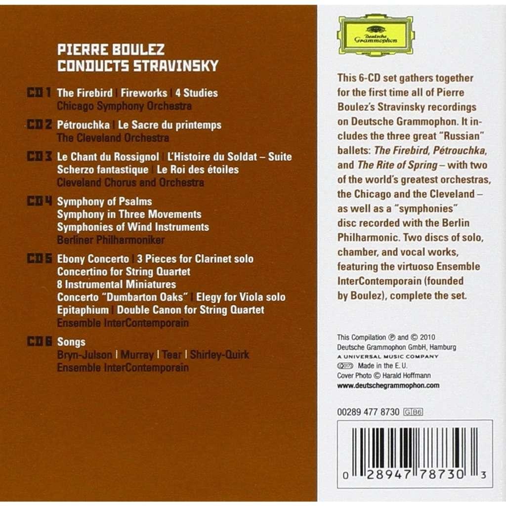 Stravinsky, Igor Boulez Conducts Stravinsky / Pierre Boulez, Chicago Symphony Orchestra, Cleveland Orchestra