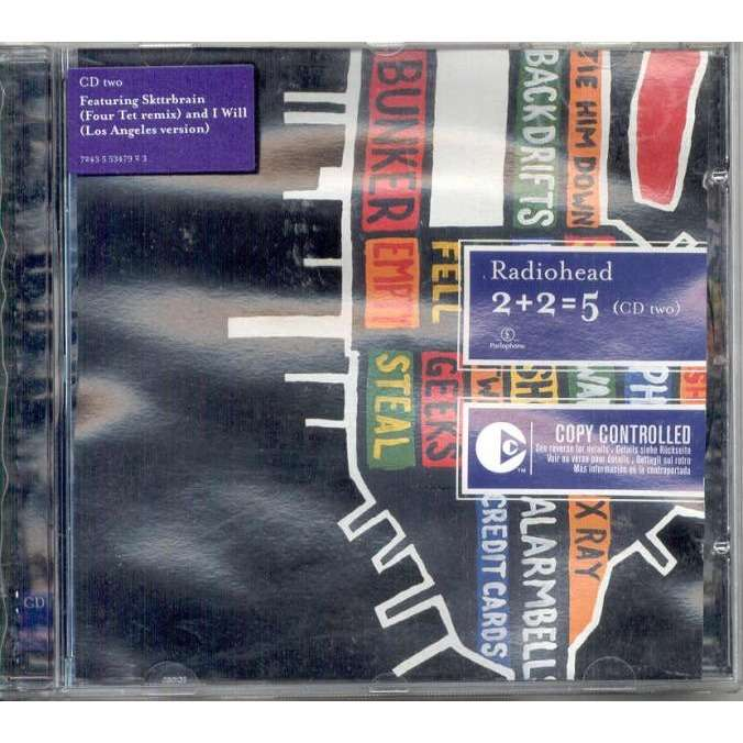 Radiohead 2+2=5 (Euro 2003 Ltd 3-trk CD2 stickered ps)