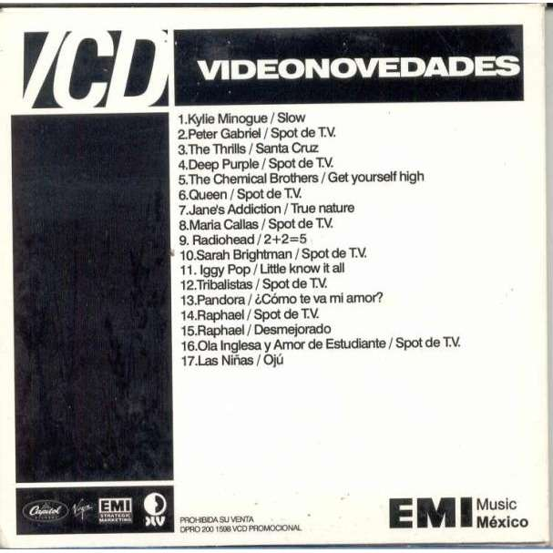 Radiohead 2+2=5 (MEXICAN 2003 PROMO VCD SAMPLER UNIQUE CARD PS)