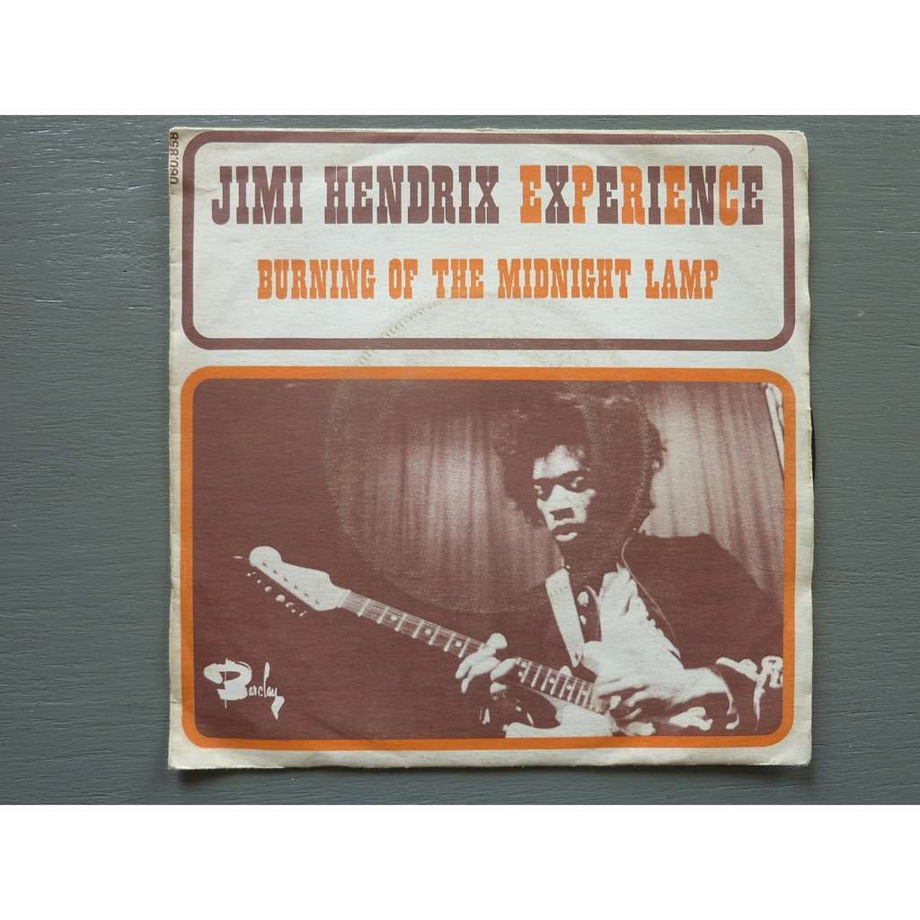 DISQUE VINYL 45T JIMI HENDRIX EXPERIENCE BURNING OF THE MIDNIGHT LAMP EO  BIEM