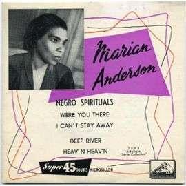 marian anderson WERE YOU THERE EP / I CAN'T STAY AWAY / DEEP RIVER / HEAV'N HEAV'N