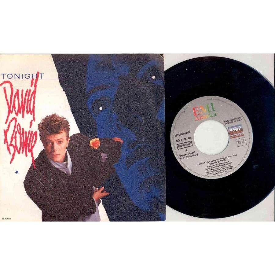 David Bowie Tonight (Spanish 1984 2-trk promo 7 on EMI promo lbl full ps)