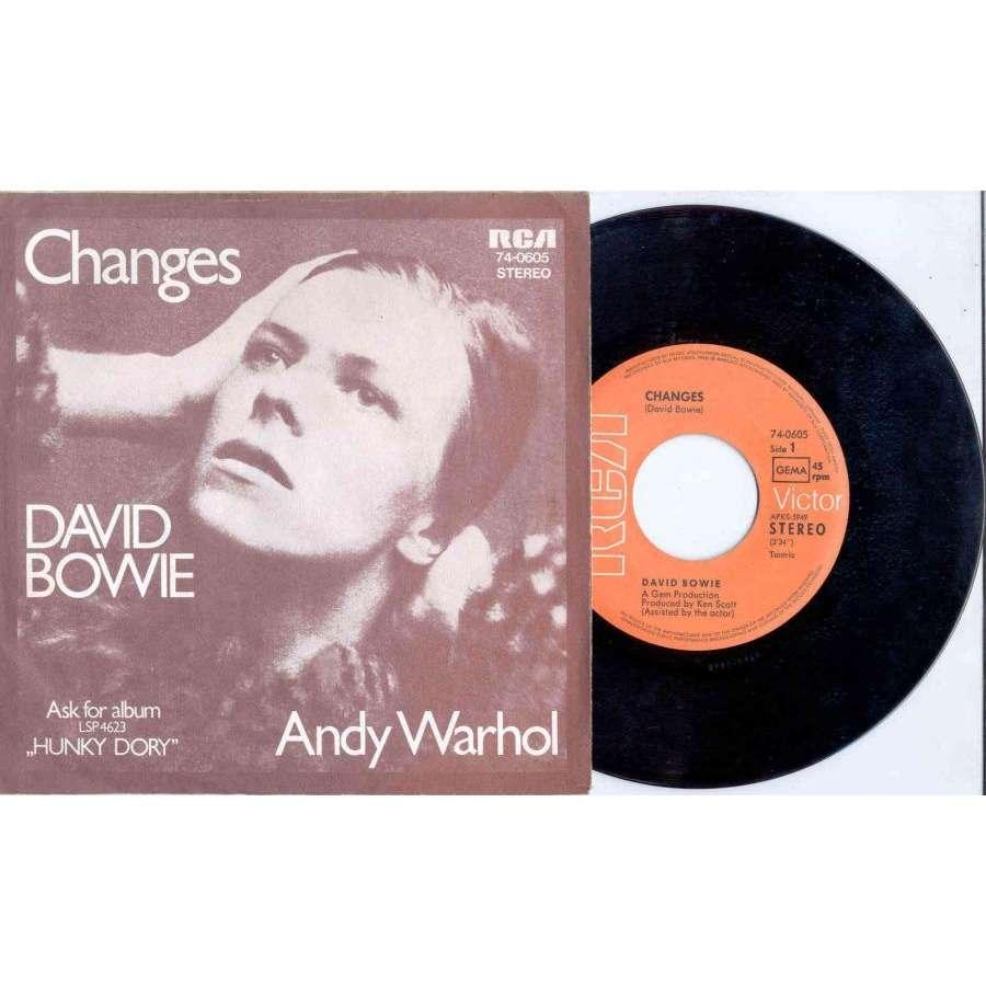 David Bowie Changes (German 1971 2-trk 7 single absolutely unique ps)