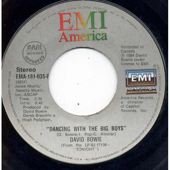 David Bowie Blue Jean (Philippines 1984 2-trk 7 single)