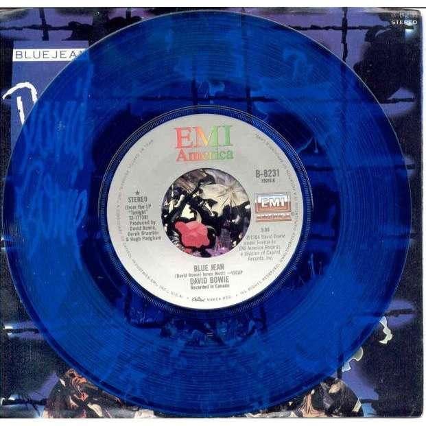 David Bowie Blue Jean (USA 1984 Ltd 2-trk BLU vinyl 7 single full ps)