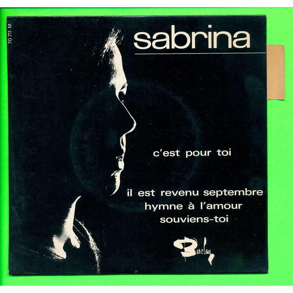 SABRINA - ( BEATLES - PIAF ) c'est pour toi - il est revenu septembre - hymne à l'amour - souviens toi