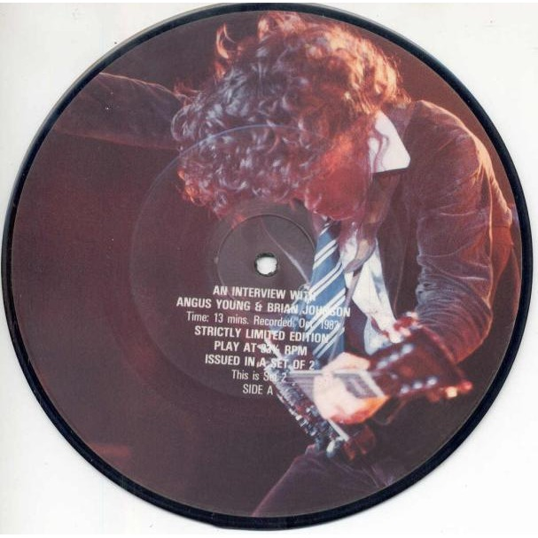 AC/DC An Interview with Angus Young and Brian Jones (Oct. 1982) (UK Ltd 2 x 7singles Picture Discs)