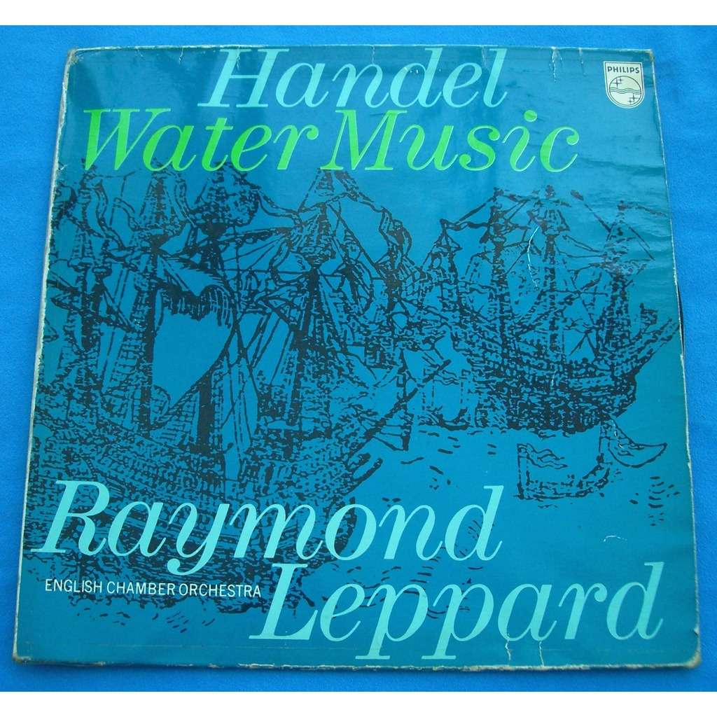 Handel water music by Raymond Leppard, LP with mocard - Ref:117051196