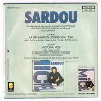 SARDOU MICHEL LA GENERATION LOVING YOU / VICTORIA