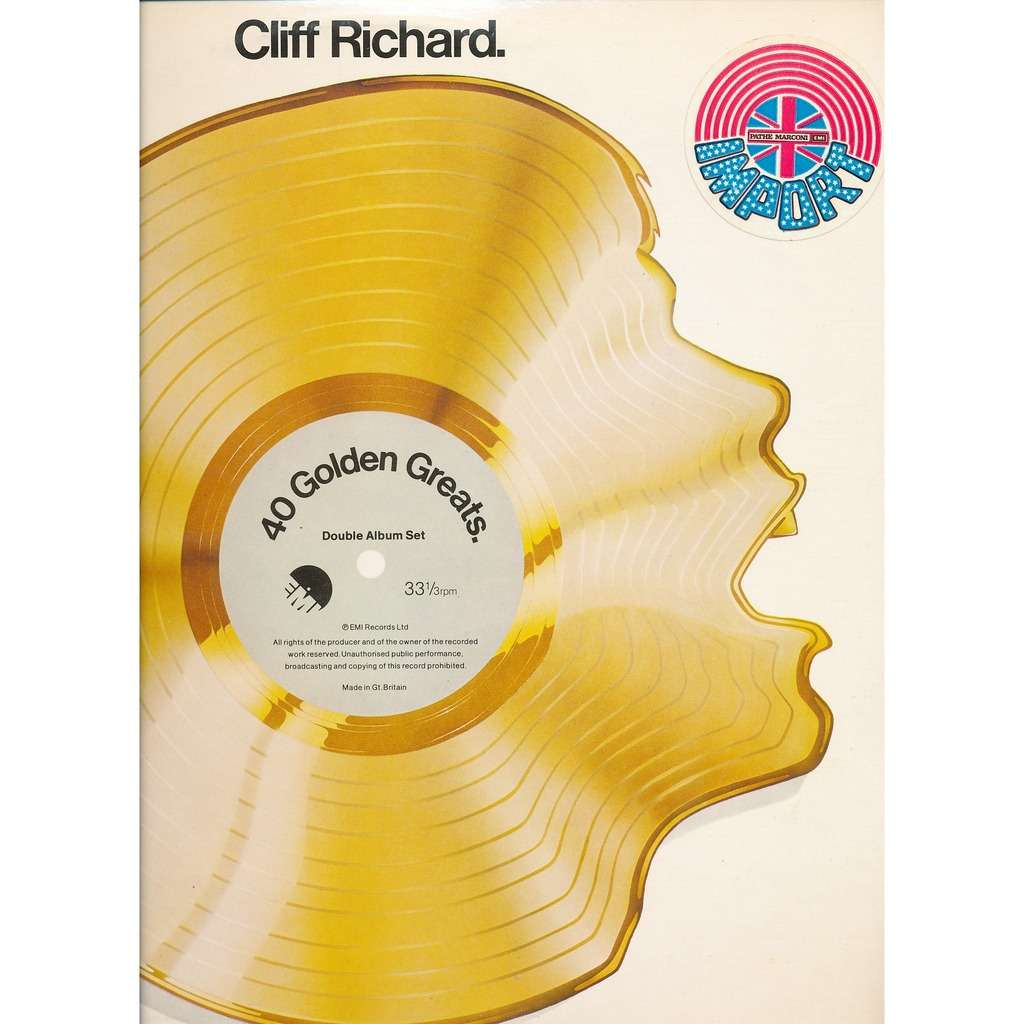 40 Golden Greats By Richard Cliff Richard Cliff Double Lp