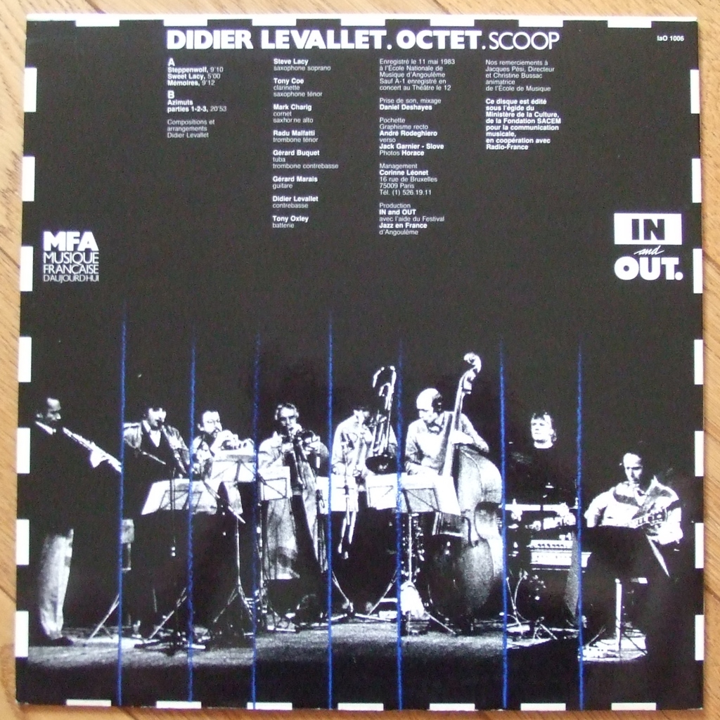 Scoop by Didier Levallet Octet, LP with labelledoccasion
