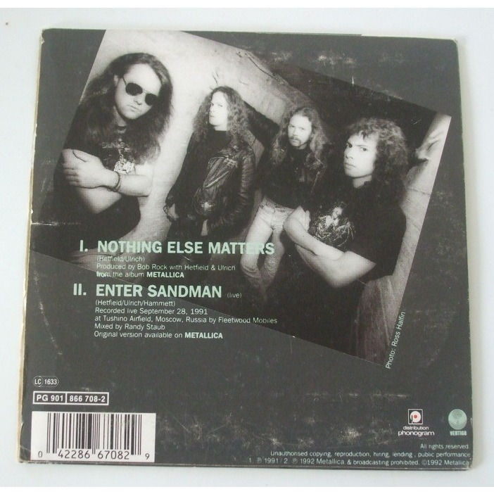 Nothing Else Matters / Enter Sandman By Metallica, CDS