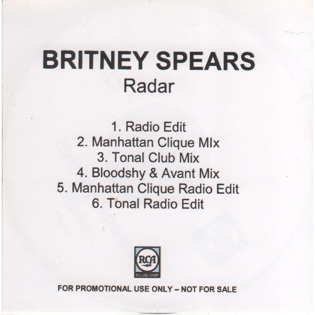 Radar (promo 6 mixes) by Britney Spears, CDS with lezobois