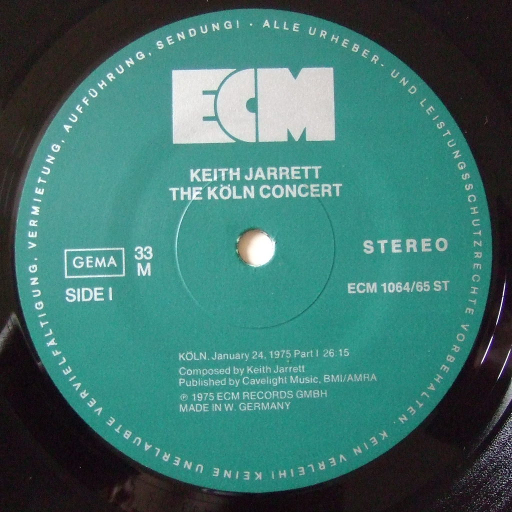 The K 246 Ln Concert By Keith Jarrett Lp X 2 With