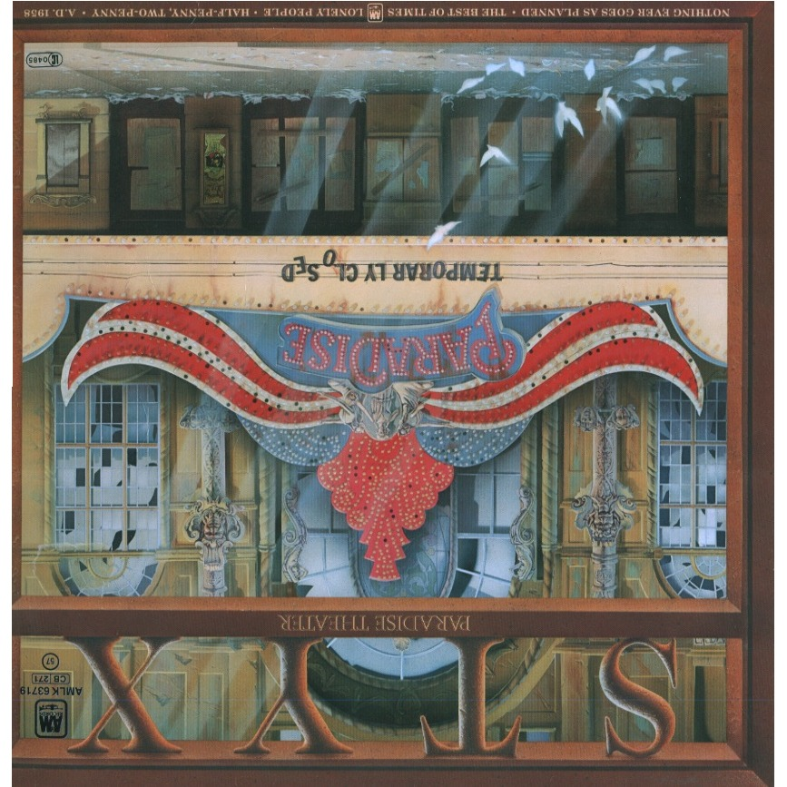 Paradise Theatre Laser Etched By Styx Lp Gatefold With