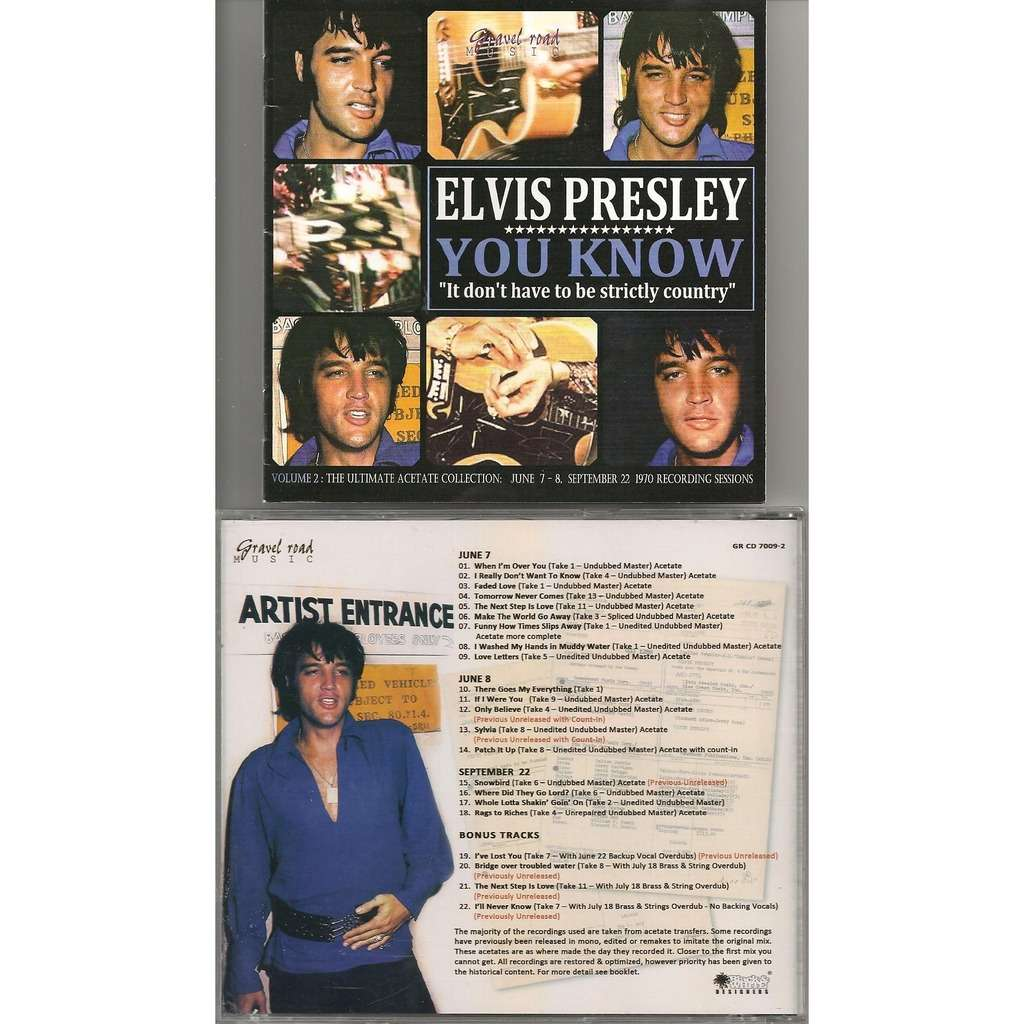 elvis presley you know it don't have to be strictly country vol.2 cd + booklet 22 outtakes 1970 !
