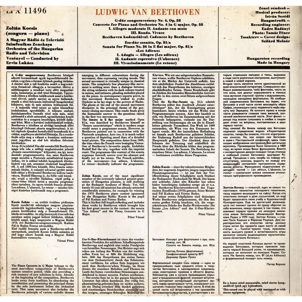 Beethoven Piano Concerto No 4 In G Major Op 58 Piano
