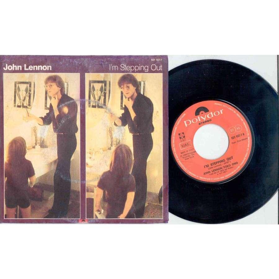 Beatles / John Lennon I'm Stepping Out (Italian 1984 2-trk 7 single full great ps)