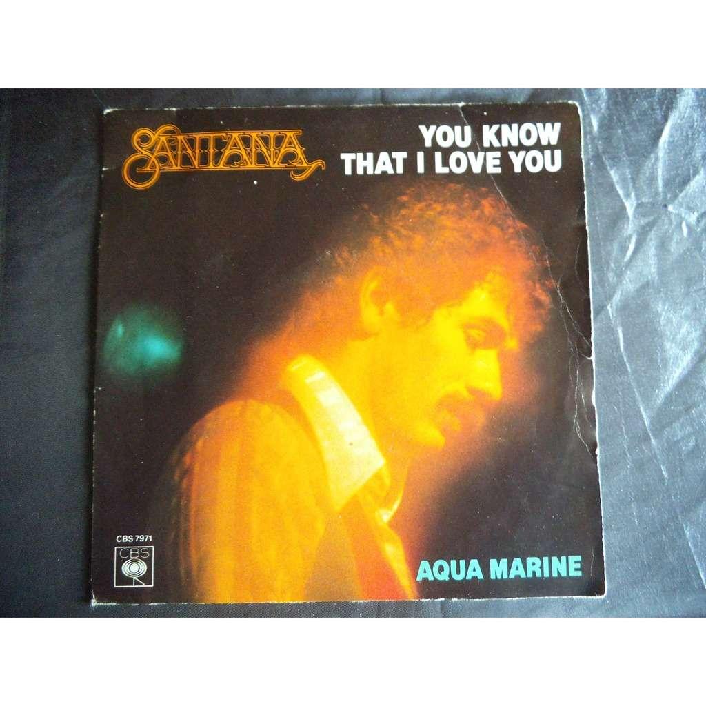 You Know That I Love You Aqua Marine By Santana Sp With