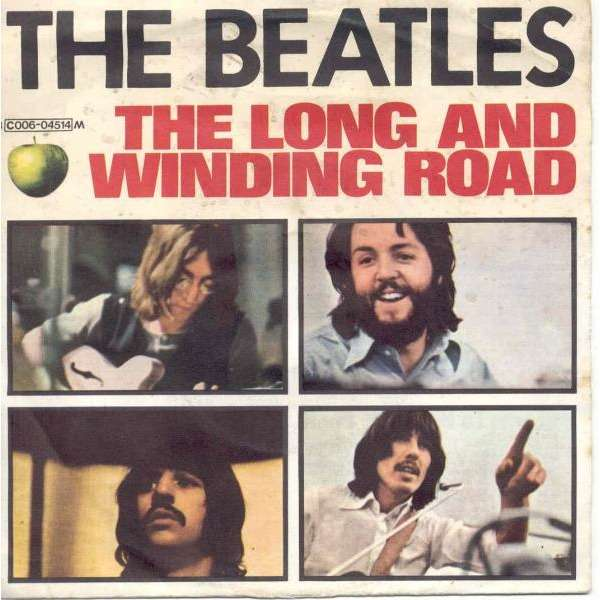 Beatles The Long And Winding Road Italian 1970 2 Trk 7 Single Unique Ps