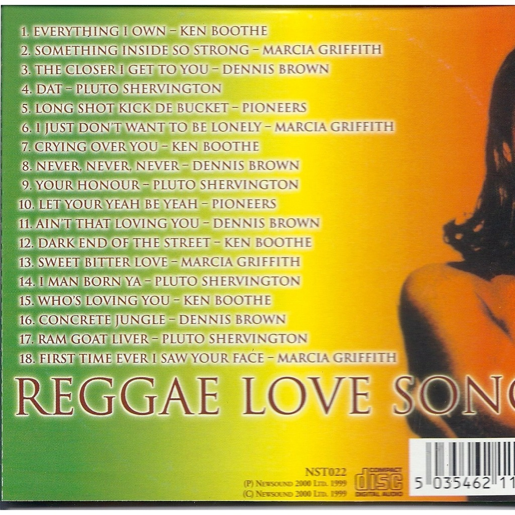 Reggae love songs by Various Artists, CD with pycvinyl