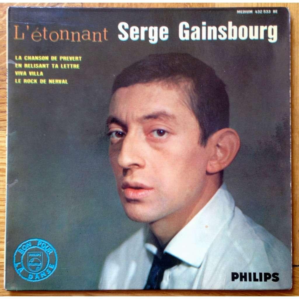 L'etonnant Serge Gainsbourg (la Chanson De Prevert / En