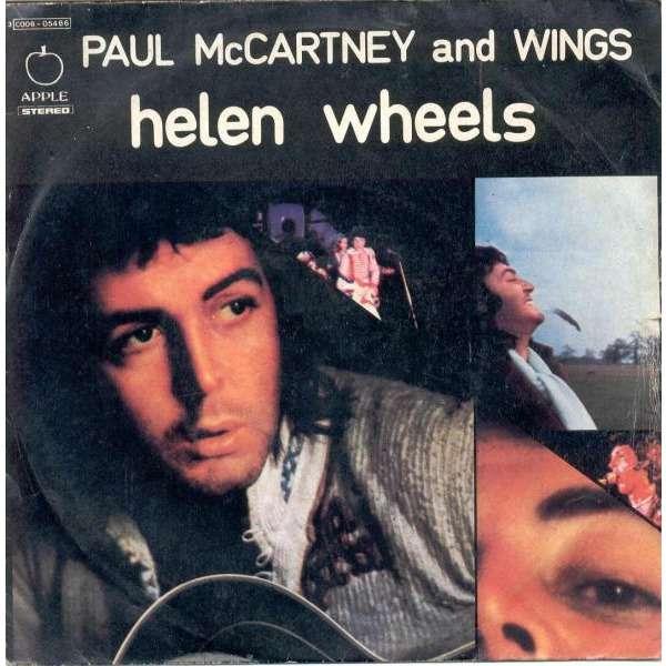 Beatles Paul McCartney Wings Helen Wheels Italian 1973 2 Trk 7 Single