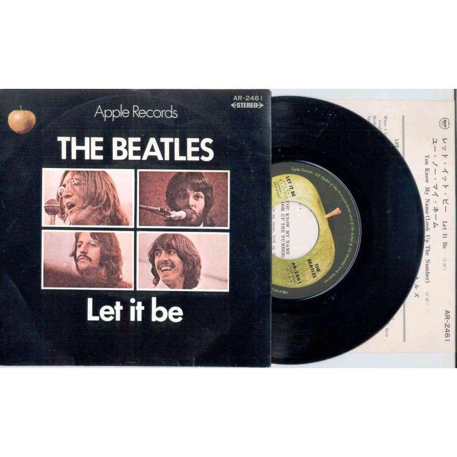 Beatles Let It Be (Japan 1970 2-trk 7 single eluxe ps & insert)
