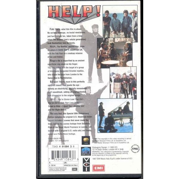 Beatles Help! (Italian 1997 video VHS film unique ps)