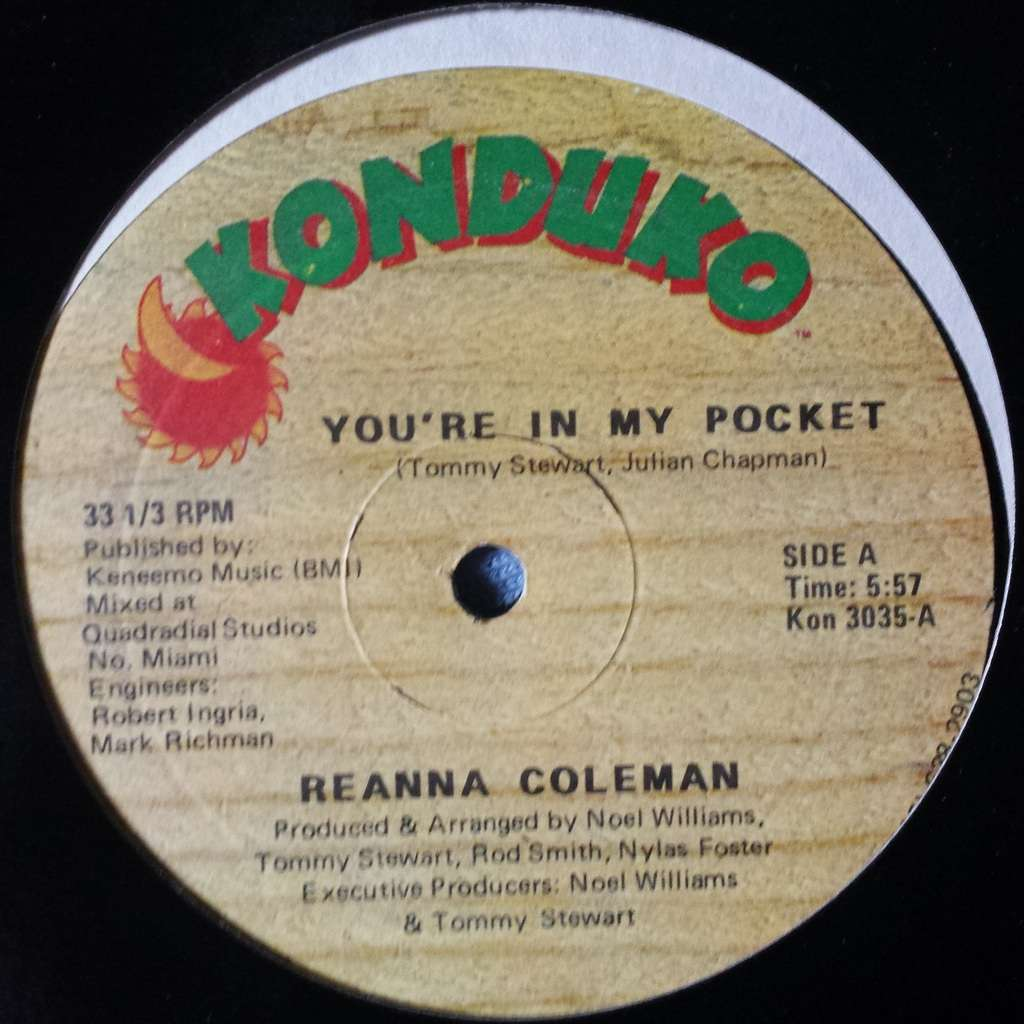 you re in my pocket vocal instrumental reanna coleman 12