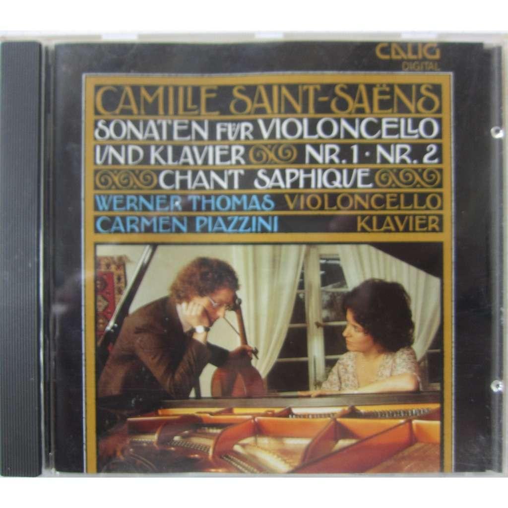 Saint-Saëns Werner Thomas Carmen Piazzini Sonaten für Violoncello und Klavier Nr. 1, Nr. 2, opp. 32, 123 Chant saphique, op. 91