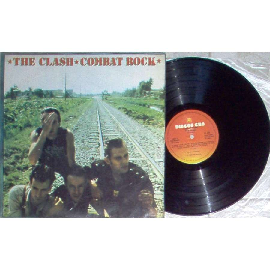The Clash Combat Rock (Argentina 1982 12-trk LP alternate colour ps)