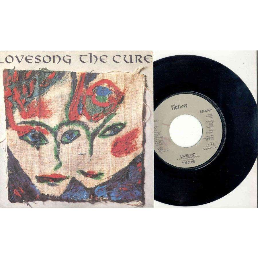 CURE Lovesong (Italian 1989 Ltd 2-trk 7 single full ps)