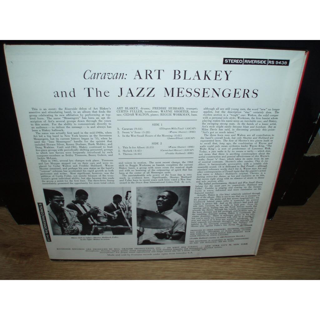 ART BLAKEY JAZZ MESSENGERS caravan L'original stereo 9438