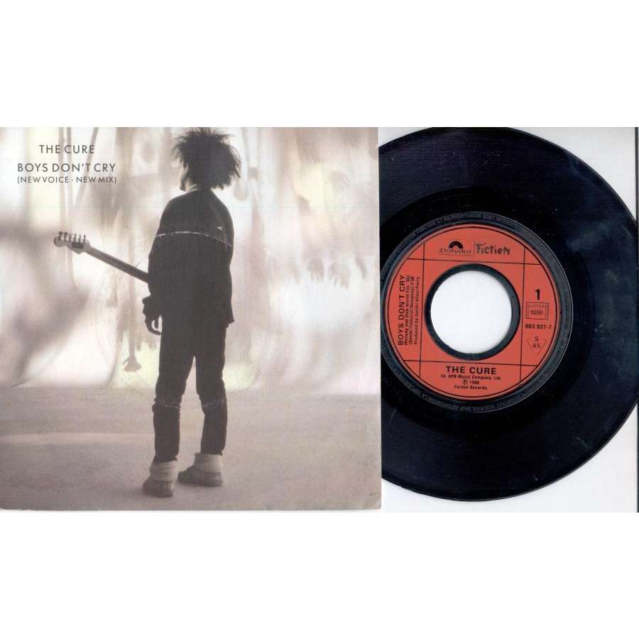 CURE Boys don't cry (French 1986 2-trk 7single full ps)