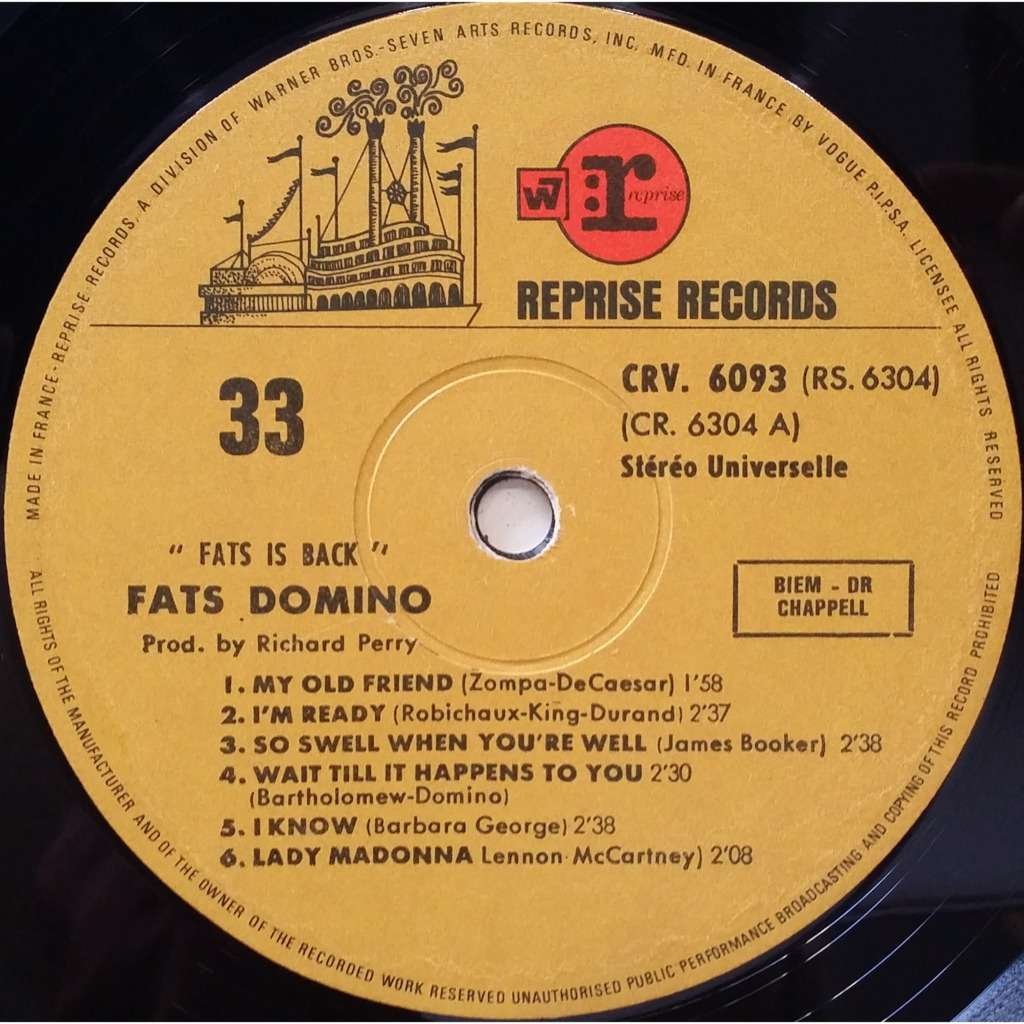 fats is back by fats domino lp with jetrecords ref 117144020. Black Bedroom Furniture Sets. Home Design Ideas