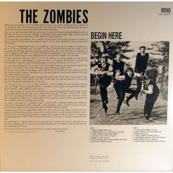 Begin Here By The Zombies Lp With Jetrecords Ref 117148813