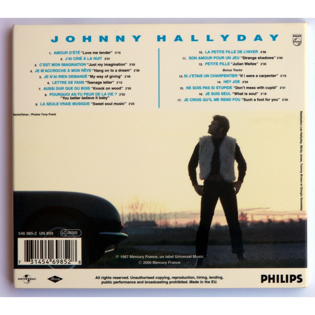 Johnny 67 By Johnny Hallyday Cd With 1pistache Ref