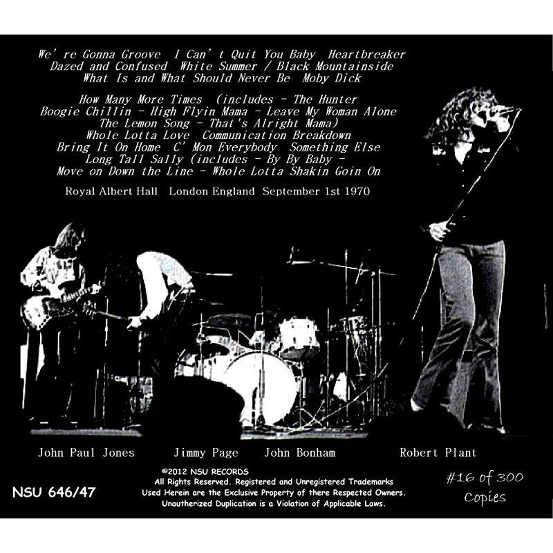 LED ZEPPELIN ROYAL ALBERT HALL 1970 LTD 2CD