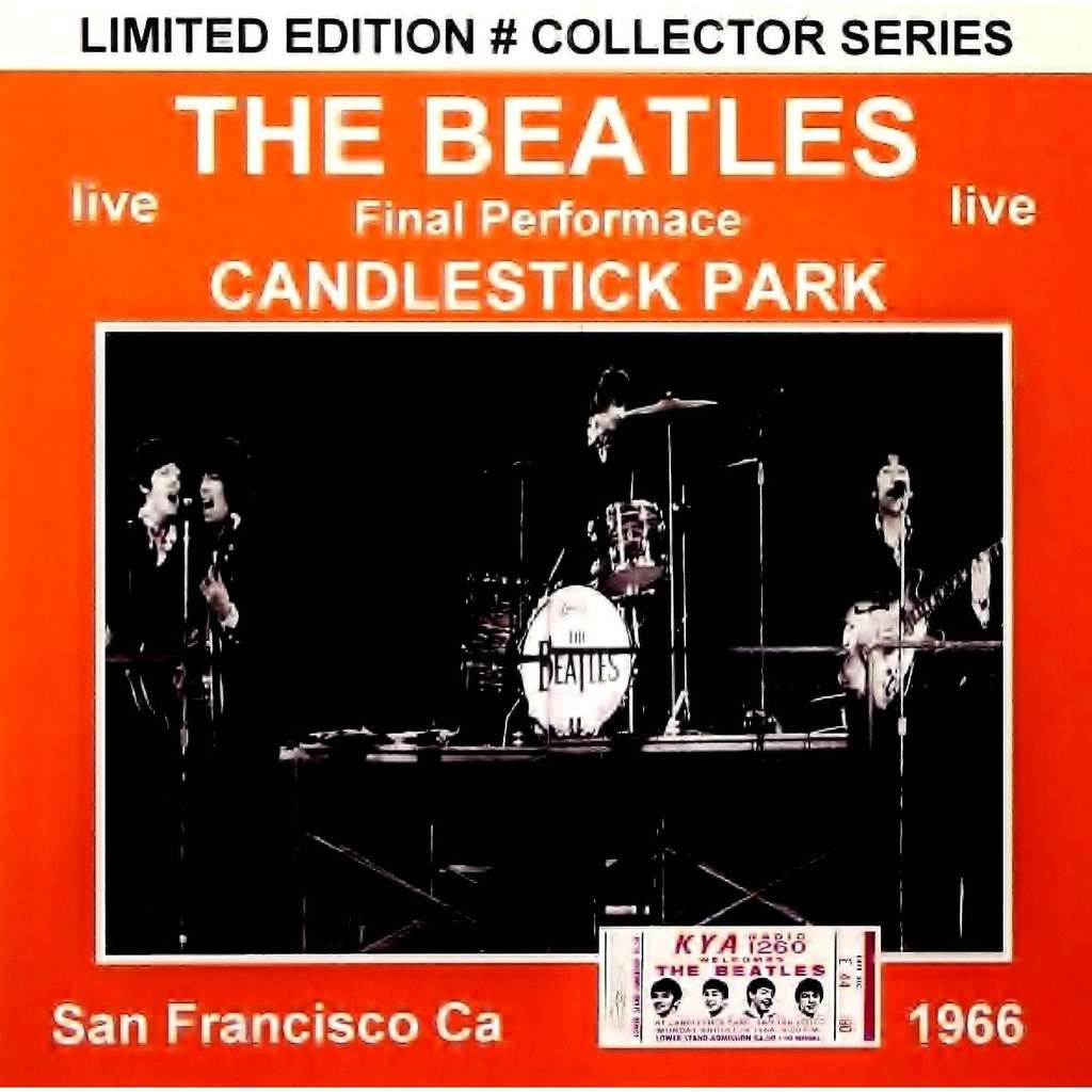 THE BEATLES CANDLESTICK PARK AUGUST 29TH, 1966 LIMITED CD