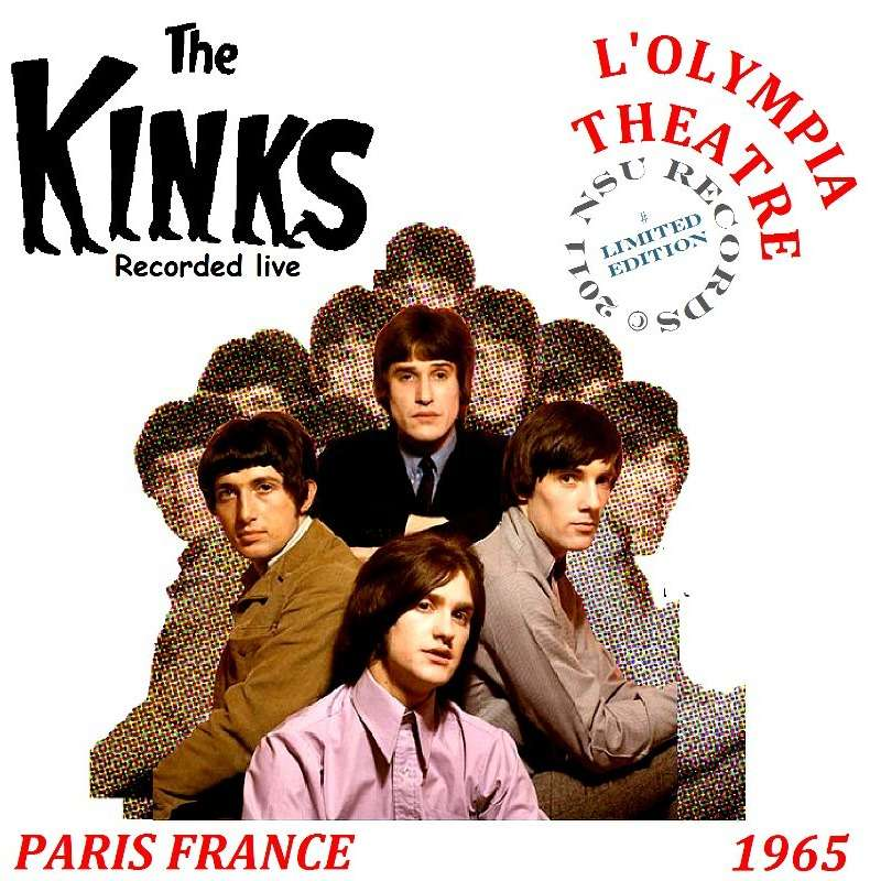 THE KINKS PARIS, FRANCE 1965 07/ 07 LTD CD