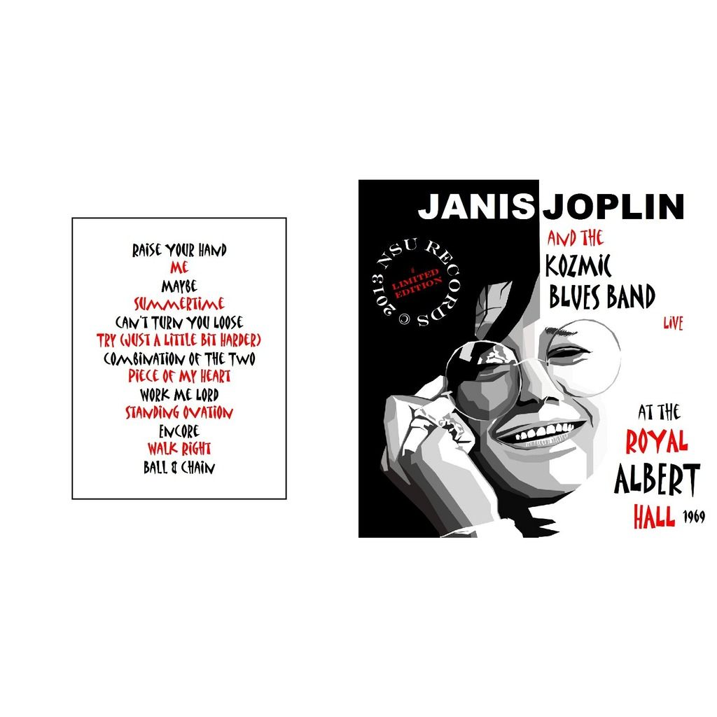 JANIS JOPLIN ROYAL ALBERT HALL 1969 04.21 LIMITED EDITION CD