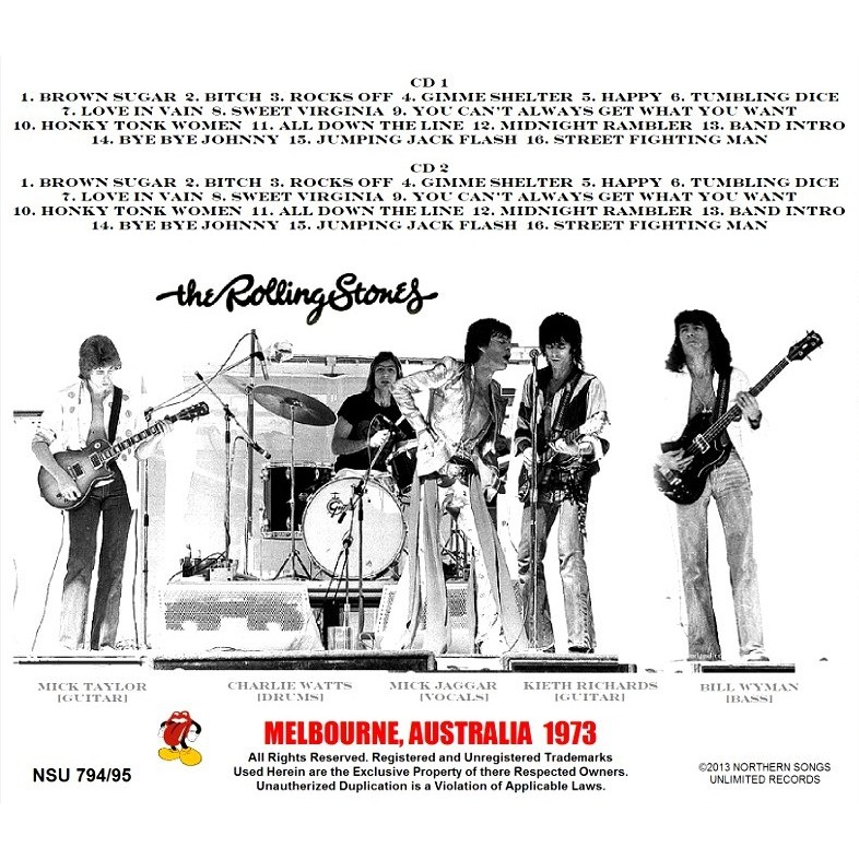 Melbourne Australia 1973 Limited 2cd By The Rolling