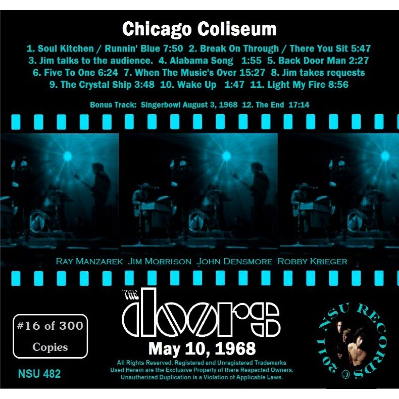 ... THE DOORS CHICAGO COLISEUM 1968 MAY 10TH LIMITED CD ...  sc 1 st  CD and LP & Chicago coliseum 1968 may 10th limited cd by The Doors CD with ...